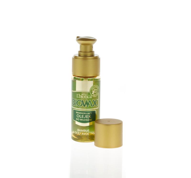 Biovax Bambus, aceite de aguacate; para reparación capilar